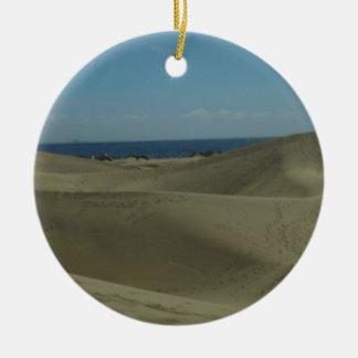Gran Canaria Sand Dunes Ceramic Ornament