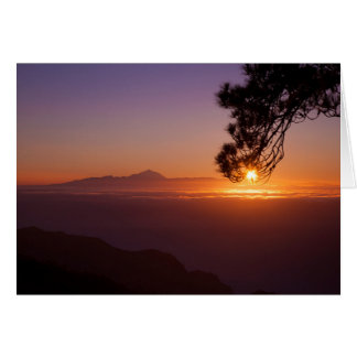 Gran Canaria sunset, view from Tamadaba card