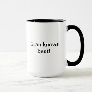 Gran knows best mug