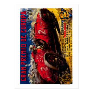 Gran Premio De Europa Vintage PosterEurope Postcard