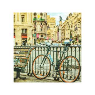 Gran Via Street, Madrid, Spain Canvas Print