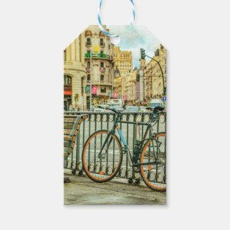 Gran Via Street, Madrid, Spain Gift Tags