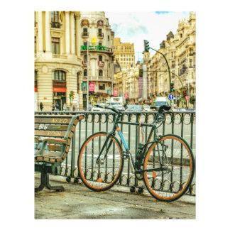 Gran Via Street, Madrid, Spain Letterhead