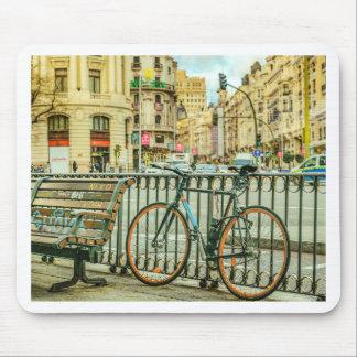 Gran Via Street, Madrid, Spain Mouse Pad