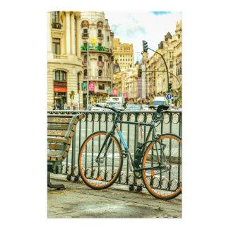 Gran Via Street, Madrid, Spain Stationery