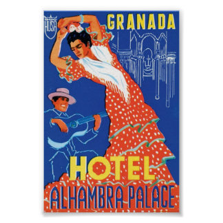 Granada Hotel Alhambra Palace Poster