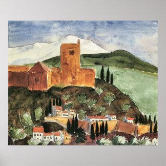Granada II by Walter Gramatte Poster