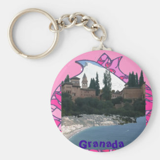 Granada key ring fantasy, mountain range, Alhambra