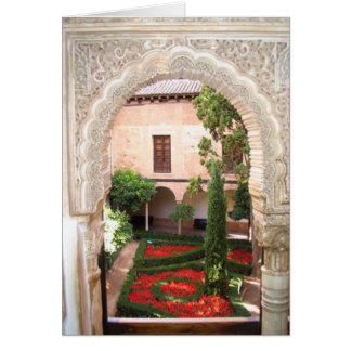 Granada La Alhambra Garden Flash Card