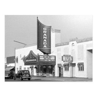 Granada Movie Theater, 1938 Postcard