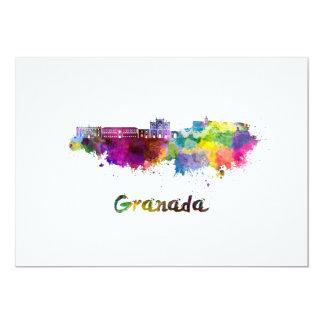 Granada skyline in watercolor card