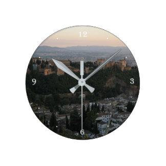 Granada,Spain View Photo Round (Medium) Wall Clock