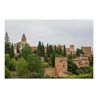 Granada. View of the Alhambra Poster