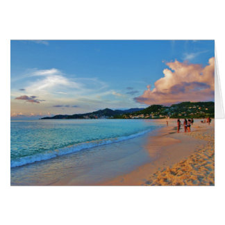 Grand Anse Beach Grenada Card