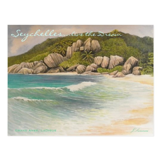 Grand Anse, LaDigue Postcard