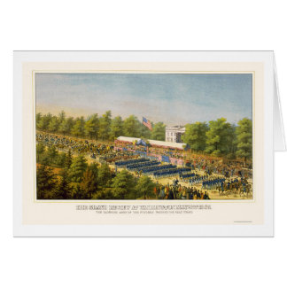 Grand Army Review in Washington, DC 1865 Greeting Card