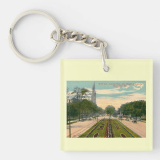 Grand Ave Milwaukee Wisconsin Vintage Acrylic Key Chains