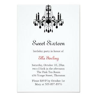Grand Ballroom Birthday Invitation (white)