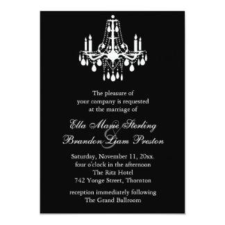 Grand Ballroom Wedding Invitation 2 (black)