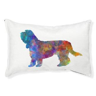 Grand Basset Griffon Vendeen in watercolor Pet Bed