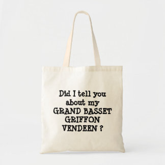 GRAND BASSET GRIFFON VENDEEN TOTE BAG