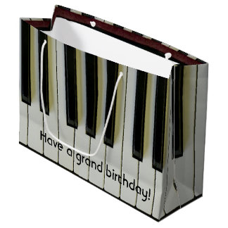 Grand Birthday Piano Keys Customizable Message Large Gift Bag