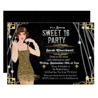 Grand bonbon à aileron de Gatsby invitation de 16