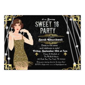Grand bonbon à art déco de Gatsby invitation de 16