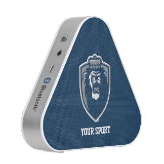 Grand bouclier bleu de monarques haut-parleur bluetooth