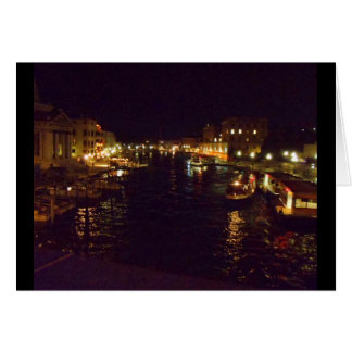 Grand Canal at Night Card