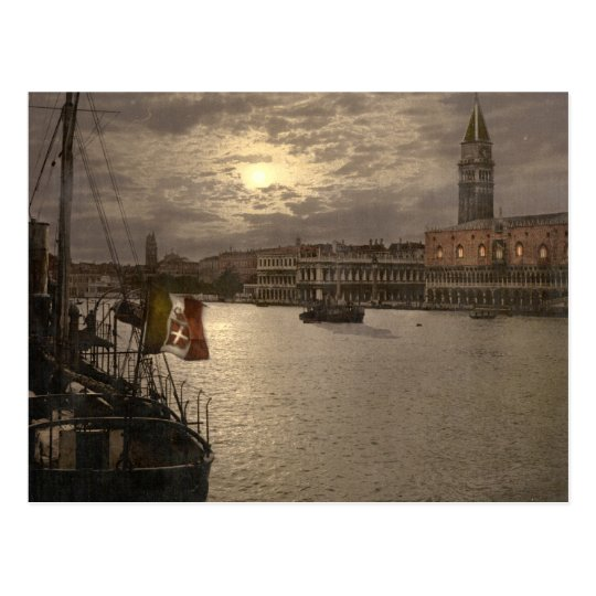 Grand Canal by Moonlight I, Venice, Italy Postcard