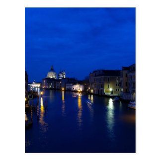 Grand canal of Venice by night Postcard