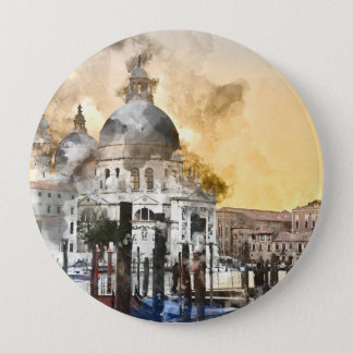 Grand Canal of Venice Italy 4 Inch Round Button