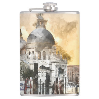 Grand Canal of Venice Italy Hip Flask