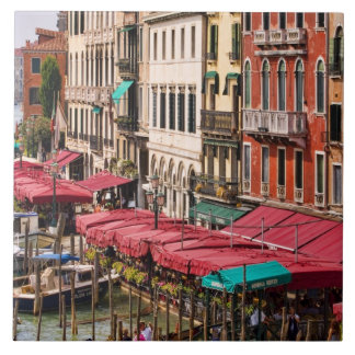 Grand Canal of Venice Italy with gondola boats Tiles
