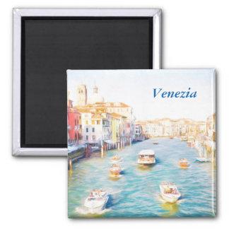 Grand Canal Venezia Square Magnet