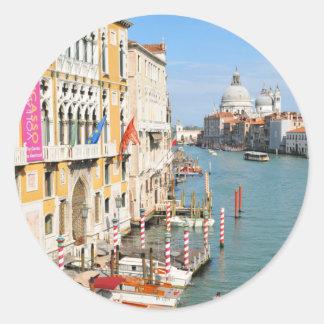 Grand Canal, Venice, Italy Classic Round Sticker