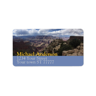 Grand Canyon Address label