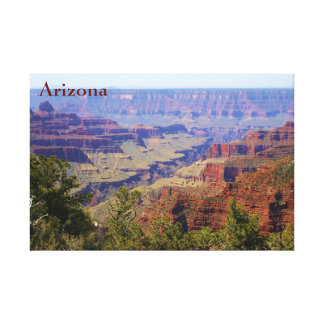 Grand Canyon Arizona Landscape Photo with Text Canvas Print
