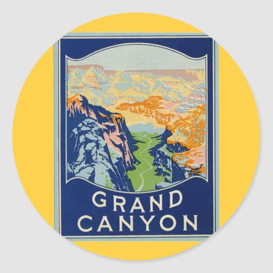 Grand Canyon Classic Round Sticker