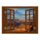 Grand Canyon Fake Faux Window View USA Poster