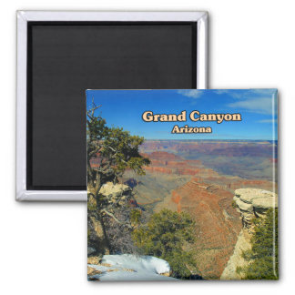 Grand Canyon Flagstaff Arizona Square Magnet