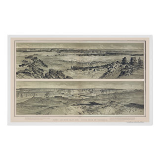 Grand Canyon from Mt. Trumbull Print 1882