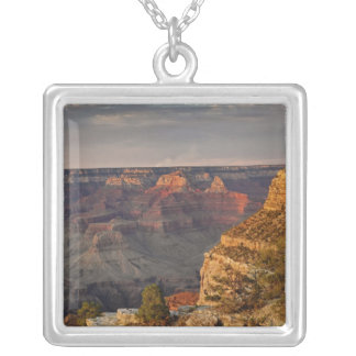 Grand Canyon from the south rim at sunset, 2 Silver Plated Necklace