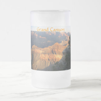 Grand Canyon Frosted Glass Beer Mug