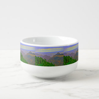 Grand Canyon In Cartoon Soup Bowl Soup Bowl With Handle