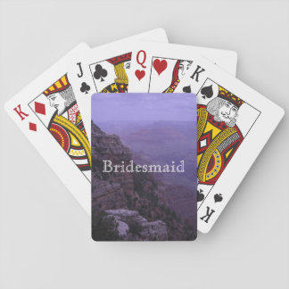 Grand Canyon in Purple Playing Cards