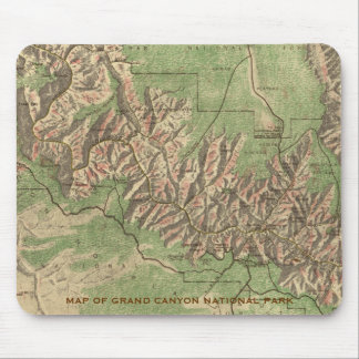 Grand Canyon Map Mouse Pad