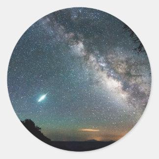 Grand Canyon Milky Way Classic Round Sticker