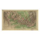Grand Canyon National Park Map 1926 Poster